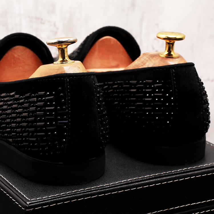 2019 New Gradient Striped Rhinestones Loafers shoes SmokingSlippers Dress Wedding Party Flats Casual Moccasins shoe 56 Online shopping Bangladesh