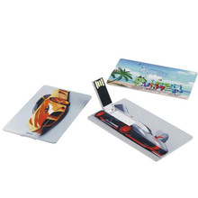 Free Customize LOGO Image Credit Card Usb Flash Drive 4GB 8GB USB 2.0 Memory Stick Pen Drive Customized As Request U disk Logo(China)