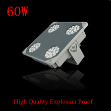 Explosion Proof Led gas station Lamp 60W AC85-265V IP68 Outdoor Lights Tunnel Lights mining Lamp  Cree Chip Fedex Free shipping
