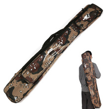 1pc 80/120cm Portable Fishing Rod Bag Multifunctional Camouflage Double Layer Outdoor Fishing Bag Tackle