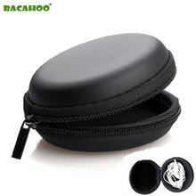 RACAHOO Earphone Holder Case Storage Carrying Hard Bag Box Case For Earphone Headphone Accessories Earbuds memory Card USB Cable(China)