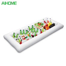 1 PC Portable Inflatable Serving White Bar Cooler Buffet Salad Food & Drink Tray For Party Picnic Cocktail And Win(China)