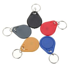 NEW 100pcs 13.56MHZ Classic1K ABS ISO IC Key Fobs Access Control Keychain RFID Smart Card Tag