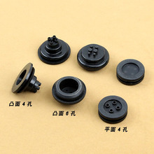 Free Shipping Car Headlight Retrofitting Accessories 4 Holes Rubber Cover for Waterproof and Let the Wire go through