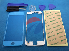 Front Outer Screen Glass Lens Cover Replacement For iPhone 6s 4.7inch Touch Screen + lcd frame + sticker + tools(China)