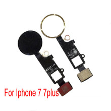 1 PCS New home button Flex Cable For Apple iphone 7 G 7 plus 7P home button repair parts Rose gold/Black/silver/gold
