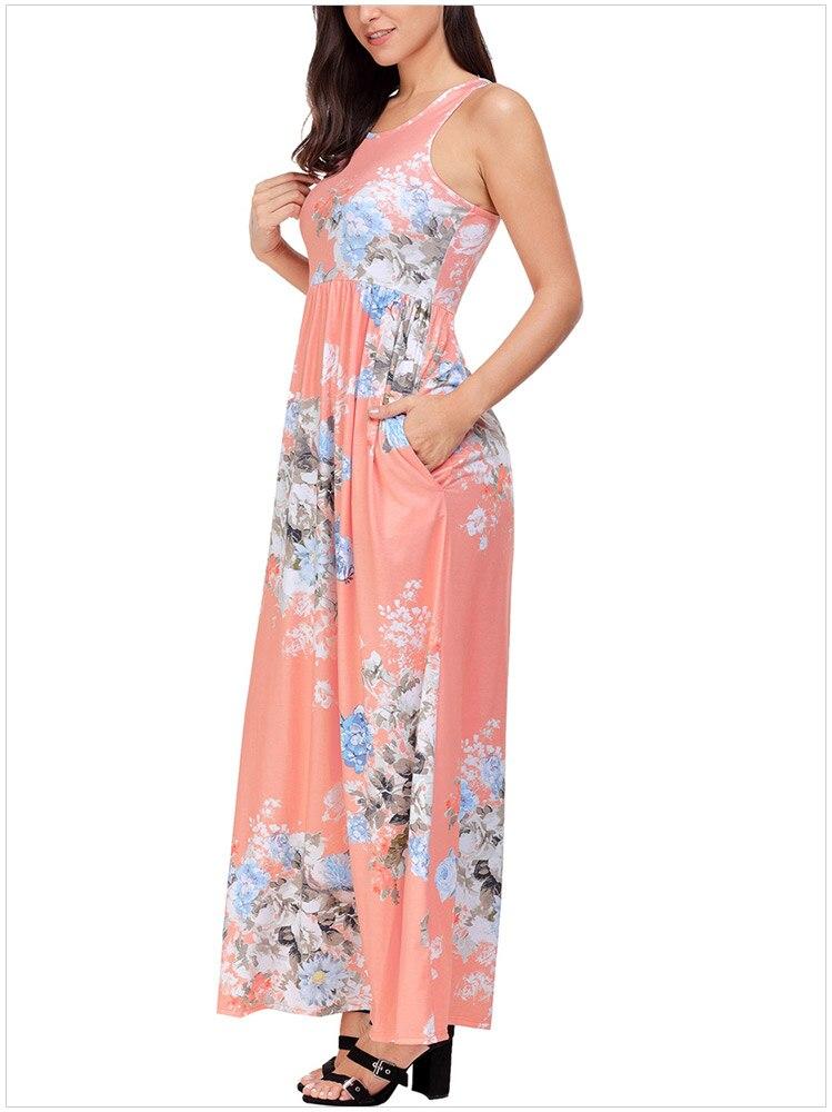 Compre Vestido Largo Floral Del Verano Vestidos Largos Para Mujer ...