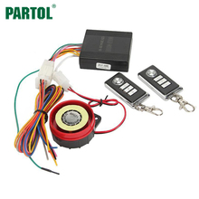 Partol Motorcycle Anti-theft Alarm System Security w Keyless Remote Control Engine Start Lock 12V Motorbike Scooter Protection(China)