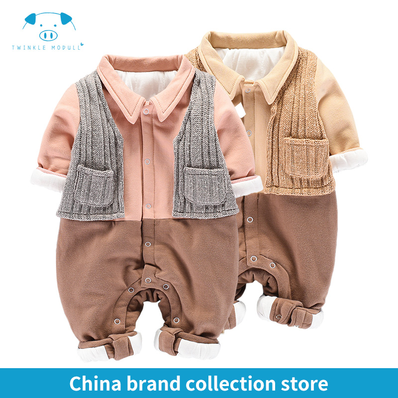 winter rompers newborn boy girl clothes set baby fashion infant baby brand products clothing bebe newborn romper MD170D036<br>