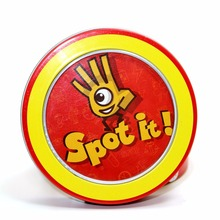 spot dobble find it board game for children, fun with family gathering, the animals paper quality card(China)
