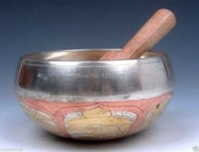 Vintage Tibetan Copper Gold Gilt Large Singing Bowl   (diameter approx 8.5CM) with stick