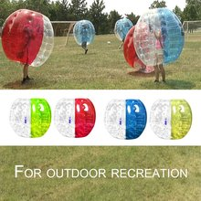 1M Outdoor Activity PVC Inflatable Bumper Bubble Soccer Zorb Ball For Adult Buffer Ball Running Family Game Body Suit Loopy Ball(China)