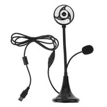 High Definition 640x480 Digital Webcam 12MP Desk Mount Computer Camera with LED and Microphone Adjustable holder for PC Laptop(China)