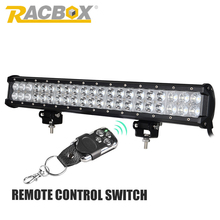 RACBOX 20 Inch 126W LED Chips Work Light Bar Combo 12V For Truck Tractor Trailer ATV UTV 4X4 SUV Boat 4WD Waterproof IP67