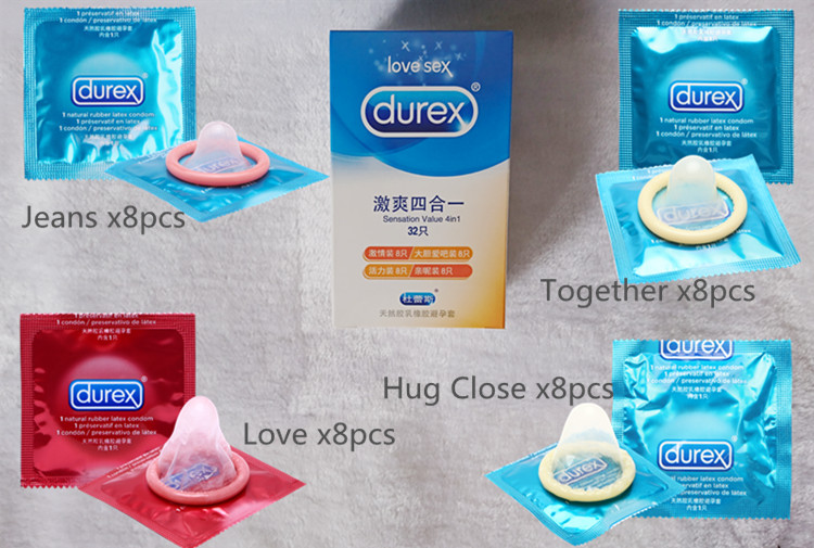 Durex Condoms 32 Pcs/Box Natural Latex Smooth Lubricated Contraception 4 Types Condoms for Men Sex Toys Products Wholesale 7