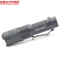 MINI flashlight XM-L T6 L2 LED 18650 torch waterproof zoomable Led rechargeable 18650 battery light(China)