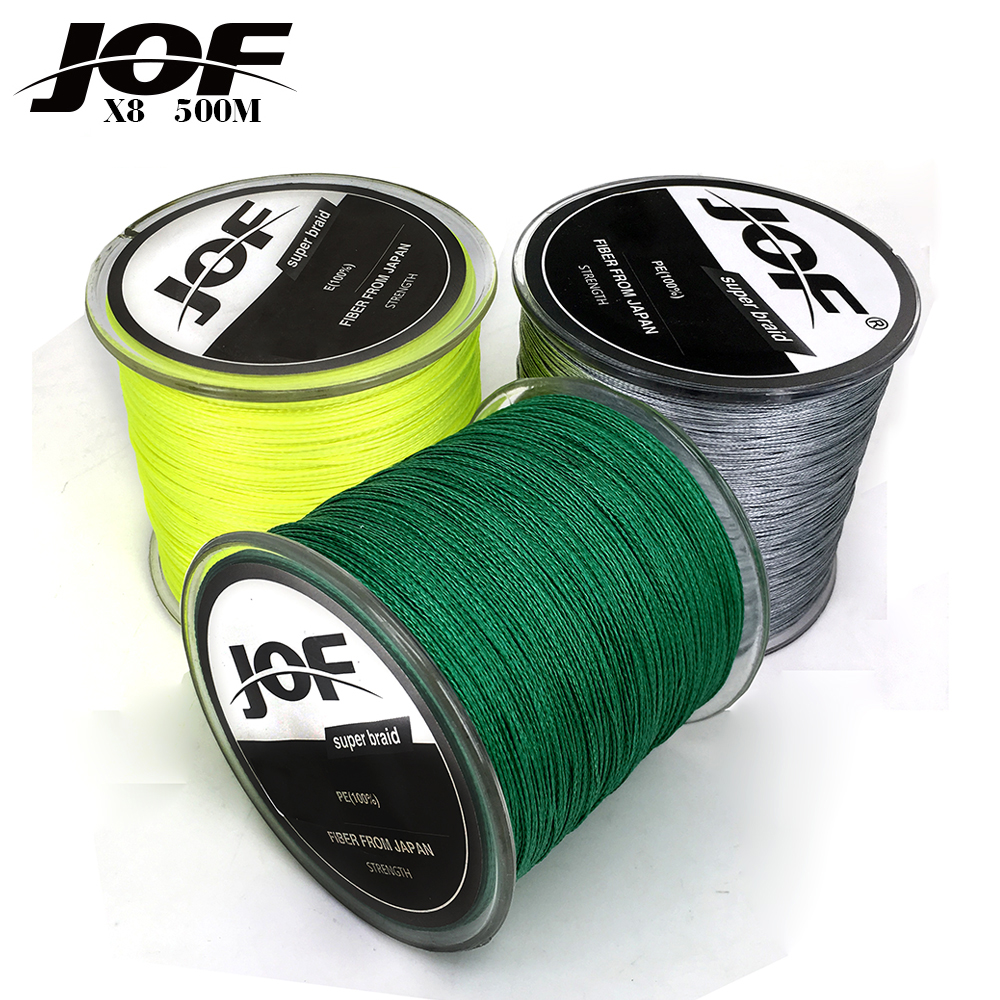 2017 NEW Fishing Line 8 Strands PE Braided 500 Meters Multifilament Fishing Line Rope peche carpe Wire 20 30 40 50 60 80 100lb(China)