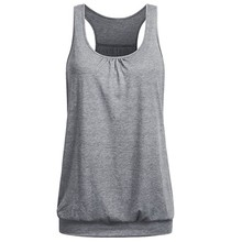Buy CHAMSGEND Summer Korean Womens Sleeveless Round Neck Wrinkled Loose Fit Racerback Workout Tank Top Drop 3j7 for $8.11 in AliExpress store