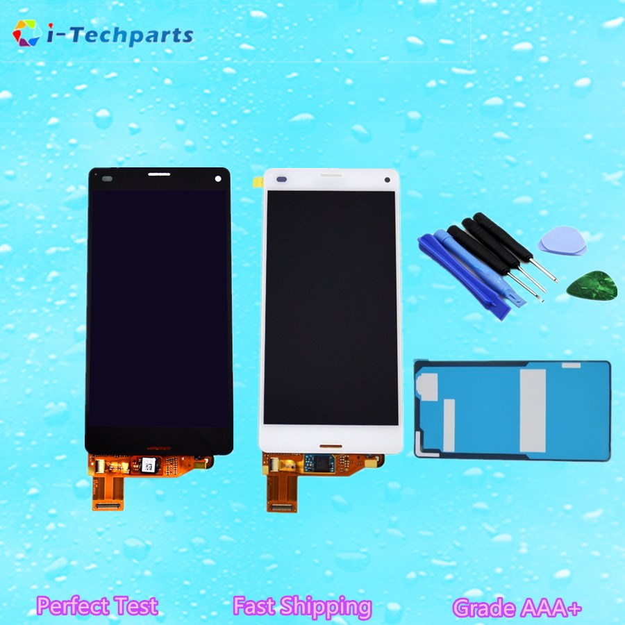 High quality For Sony Z3 Compact LCD Display and Touch Screen Digitizer Assembly,Black White<br><br>Aliexpress