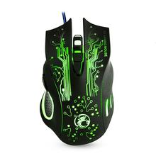 imice Wired Gaming Mouse USB Optical Computer mouse 5000DPI Cable Mouse Gamer mice 6 Buttons Ratones PC For cs go X9(China)