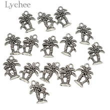Buy Lychee 15pcs/lot Alloy Palm Tree Mini Charms DIY Pendant Antique Silver Color Charms Handmade Jewelry Necklace Bracelet for $1.25 in AliExpress store