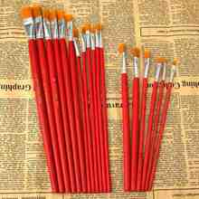 KiWarm 12 Or 6 PCS/set Wholesale Price Flat Art Brush Set Oil Painting Brush Set Blending Size Oil Acrylic Paint School Supplies(China)