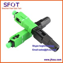 SC-APC SM Fiber Optic Fast Connector, Pre-embedded, Telecommunication Standard, Fiber fast Connector