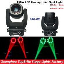 4XLot  New 150W Led Moving Head Light DMX 13Chs, High Power 150W Spot Beam Moving Head Lights For Party Wedding Event Lighting