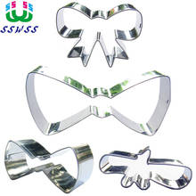 Little Bow Tie Shape Cake Decorating Fondant Cutters Tools,Food Grade Stainless Steel Series Cake Baking Molds,Direct Selling(China)