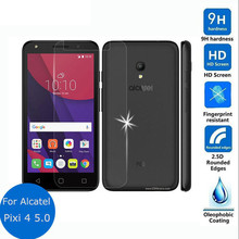 "For Alcatel Pixi 4 5 5.0""inch Tempered Glass Cover for Alcatel One Touch Pixi 4 (5) 5010 5010D Case on 5045 5045D Pixi 3 5065d"