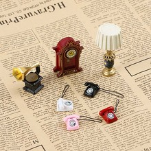 1 PC 1:12 Dollhouse Decor Scene Mini Laptop Miniature Phone Computer Doll Furniture Doll Accessories Tune Store