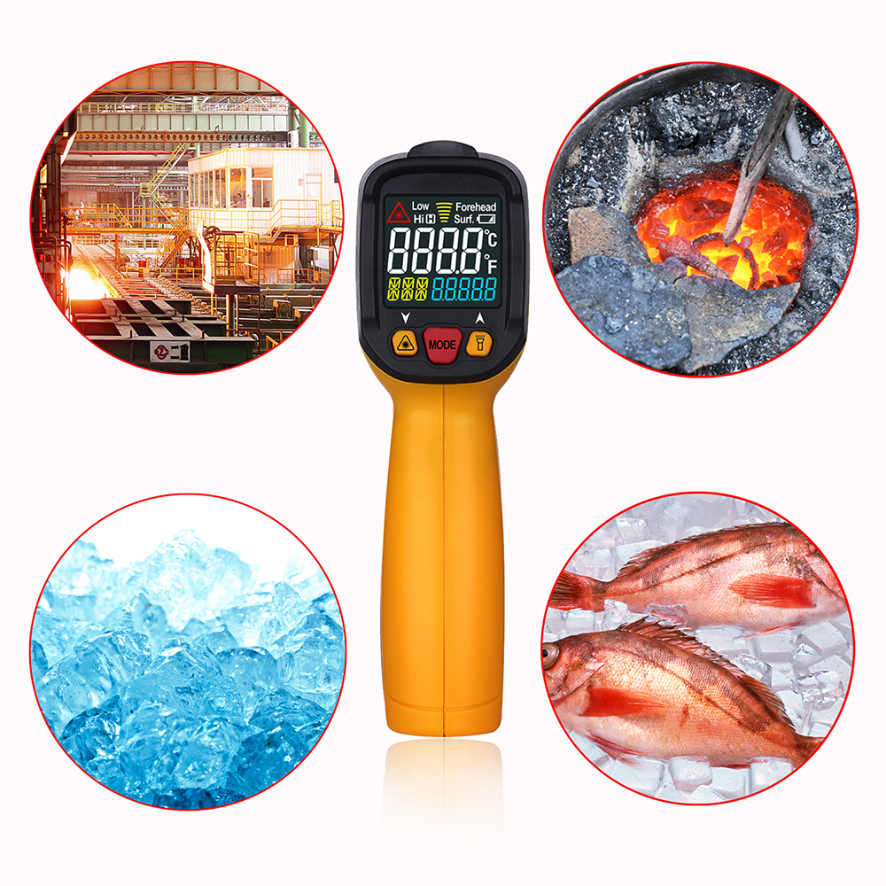PEAKMETER Non-contact Digital Infrared IR Thermometer Temperature Tester PM6530A/B/D 12:1 with Alarm Adjustable Emissivity(China (Mainland))