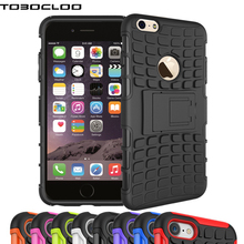 TOBOCLOO For Apple iPhone 4 4s 5 5s 6 6s 7 Plus 7Plus SE Heavy Duty Armor Shockproof Hard Rugged Rubber Case Cover Capa