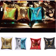 CAMMITEVER Good Quality Mermaid Pillow Case, Play Tailor Magic Reversible Sequin Pillow Cover Throw Cushion Case 40x40CM