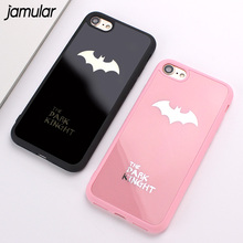 JAMULAR Batman Silicone Soft Phone Case For iPhone X 6S 8 7 Plus Rubber Phone Cover For iPhone 7 8 Plus 6 6S Mirror Cases Shell(China)