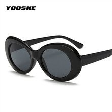 YOOSKE NIRVANA Kurt Cobain Sunglasses Women Men Brand Designer Female Male Sun Glasses Women's Glasses Feminine Retro Mirrored
