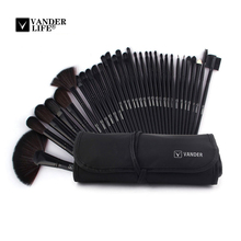 32pcs Set For Professional Beauty Makeup Brush Sets Cosmetics Foundation Shadow Tools Liner Eye Concealer Make Up Kit Pouch Bag(China)