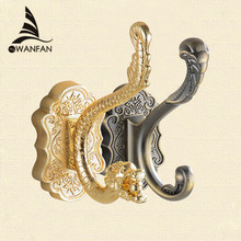 New Dragon Design Wall Mount Towel Hanger Hooks for Clothes Elegant Coat Hat Bag Hooks Bathroom Accessories Free Shipping 8802