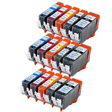 15X Generic ink cartridge PGI-520 CLI-521 PGI520 CLI521 for Canon IP4600 IP4680 MP550 MP558 MP560 MP568 MP620 MX860 printer(China)