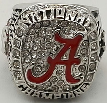Factory Direct Sale NCAA 2015 Alabama Crimson Tide National Championship Replica Ring,silver plated stainless steel ring
