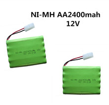 2pcs 12v 2400mah ni-mh bateria 12v rc battery nimh battery pilas recargables 12v pack 10x aa size ni mh for rc car toy battery(China)
