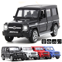 1:32 G65 Metal Alloy Pull Back Cars Model Car Toy Cool Diecast Off Road Vehicle With Light&Sound Gifts Toys For Children(China)