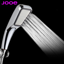 JOOE Water Saving Shower Head high Pressurized 300 hole ABS Chrome Handheld doucha Bathroom Water Booster Chuveiro Douchekopj008