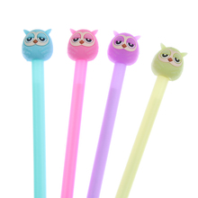 4Pcs/set New Lovely Jelly Owl Gel Pen Writing Signing Pen Student Stationery School Office Supply Kids Gift