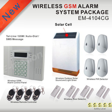 Wireless PSTN GSM Alarm System 433MHz Home Burglar Security Alarm System GSM alarm panel built in rechargeable batteries kit