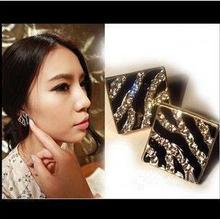 EX067 2017 new arrival crystal Earrings Black Zebra, leopard major suit oil earrings wholesale, welcome to place an order!