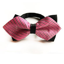 Pink Rose Tuxedo Wedding Bow Tie Men Women Butterfly Cravat Black Purple Blue Red Groom Party Banquet Meet Club Bowties(China)