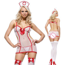 Buy Nurse Costumes Cosplay Temptation Porn Sexy Erotic Lingerie Hot Women Teddy Lingerie Babydoll Lenceria Sexy Underwear Uniform