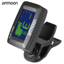 ammoon AT-02 Top Quality Guitar Tuner Clip On Tuner Universal Digital Electric Tuner for Chromatic Guitar Bass Ukulele Violin(China)