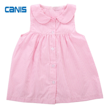 Cotton Cute Hot Baby Gap Toddler Girls Striped Sleeveless Fashion New Design Adorable Dress Shirt Size 0-5Y(China)